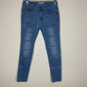 Encore- Distressed Skinny Ankle Jeans size 7